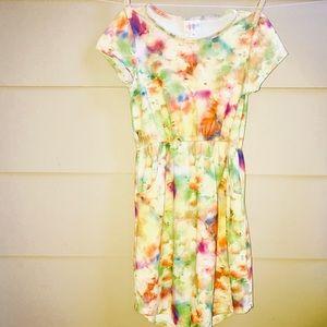 LuLaRoe Mae Floral Dress w/elastic waist & pockets